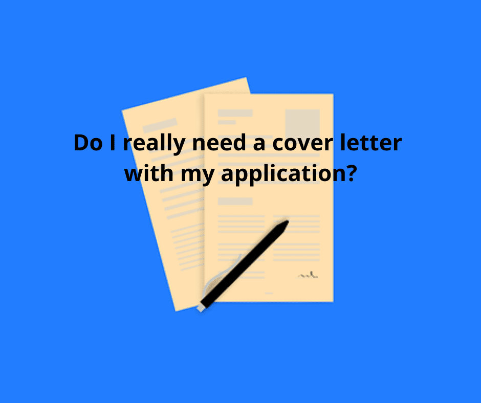 """Job application. Text over image reads """"Do I really need a cover letter with my application?"""