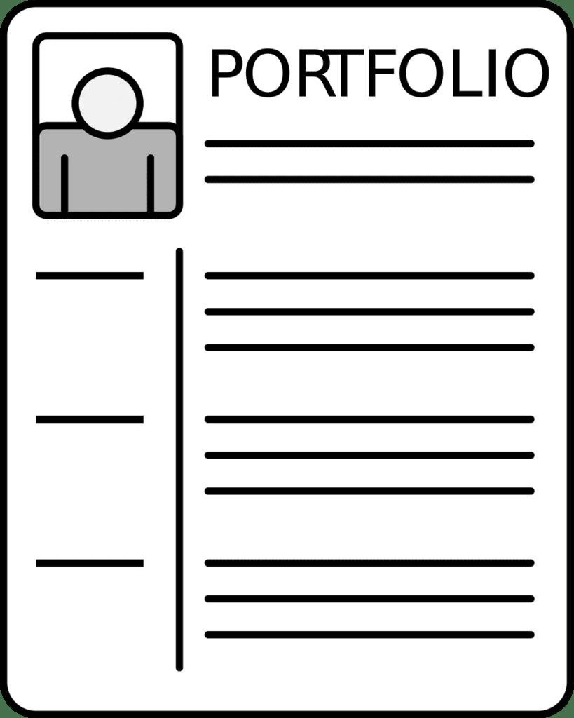 Image of a job seeker's portfolio of accomplishments