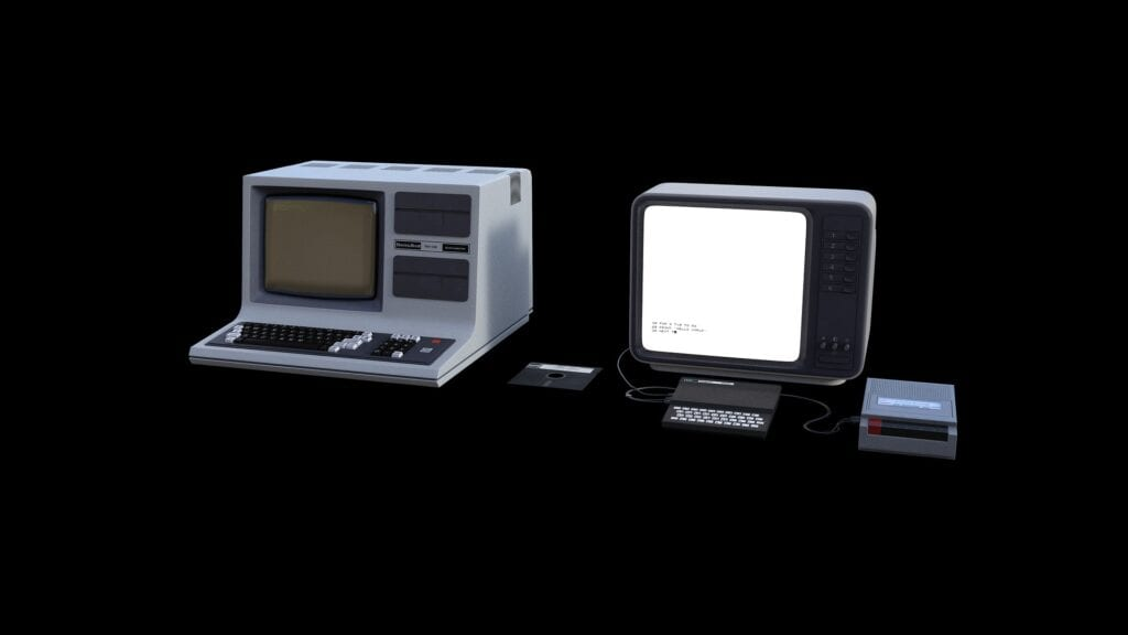 Obsolete desktop computer equipment.